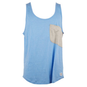 Colour Wear Cut - Tank top - Blå - Str. S
