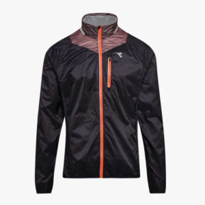 Diadora - Bright Jacket - Vindtæt løbejakke - Herre - Sort - Str. XL