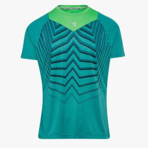 Diadora - Bright SS T-shirt - Løbe t-shirt - Herre - Turkis/grøn - Str. XL