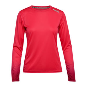 Diadora L. X-Run LS T-Shirt - Lange ærmer t-shirt - Dame - Rød - Str. S