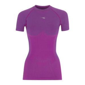 Diadora - L.SS T-shirt ACT - Basis t-shirt - Dame - Purple magnolia