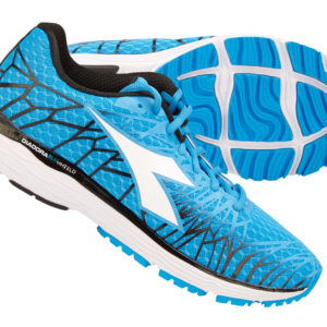 Diadora - Mythos Blushield Fly 2 - Hr - Str. 42,5 - Blå/Hvid