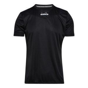 Diadora X-run SS T-shirt - Løbe t-shirt - Herre - Sort - Str. XXL