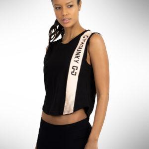 Gymjunky Women Edge Sleeveless T-Shirt Black
