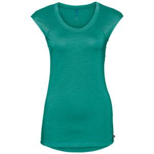 Odlo - Natural + Ceramiwool light Suw Top - Løbe t-shirt - Dame - Grøn