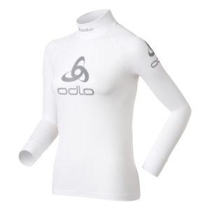 Odlo - Shirt l/s crew neck logo line - Løbebluse - Dame - Hvid - Str. L