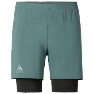 Odlo herre shorts - KANON - Silver pine/Graphite grey - Str. S
