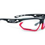 Rudy Project Fotonyk – Løbe- og cykelbrille – Impactx Fotokromisk 2 – Mat sort/Neon rød