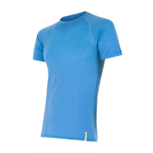 Sensor Merino Active - Uld T-shirt med korte ærmer - Herre - Blå - Str. L