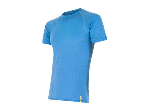Sensor Merino Active Uld T shirt med korte ærmer Herre Blå Str. M