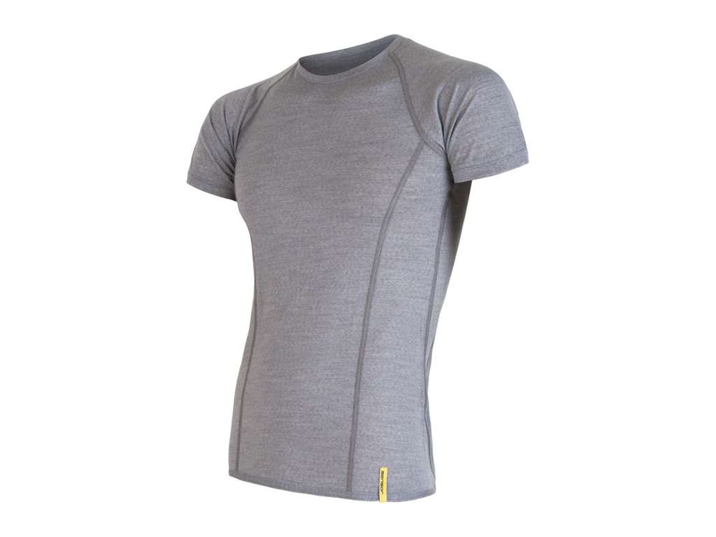 Sensor Merino Active Uld T shirt med korte ærmer Herre Grå Str. S