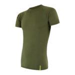 Sensor Merino Active – Uld T-shirt med korte ærmer – Herre – Grøn – Str. L