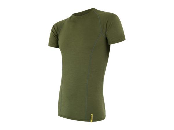 Sensor Merino Active - Uld T-shirt med korte ærmer - Herre - Grøn - Str. XL