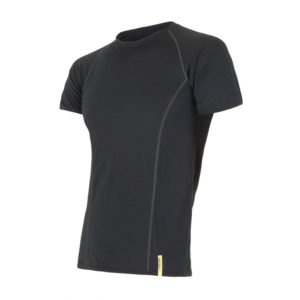 Sensor Merino Active - Uld T-shirt med korte ærmer - Herre - Sort - Str. M