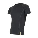 Sensor Merino Active - Uld T-shirt med korte ærmer - Herre - Sort - Str. S