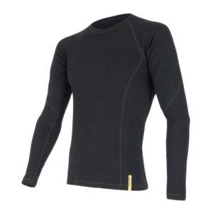 Sensor Merino DF Tee LS - Uld T-shirt med lange ærmer - Herre - Sort - Str. XL