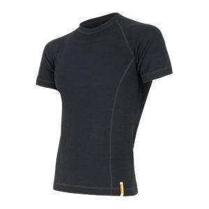 Sensor Merino DF Tee SS - Uld T-shirt - Herre - Sort - Str. L