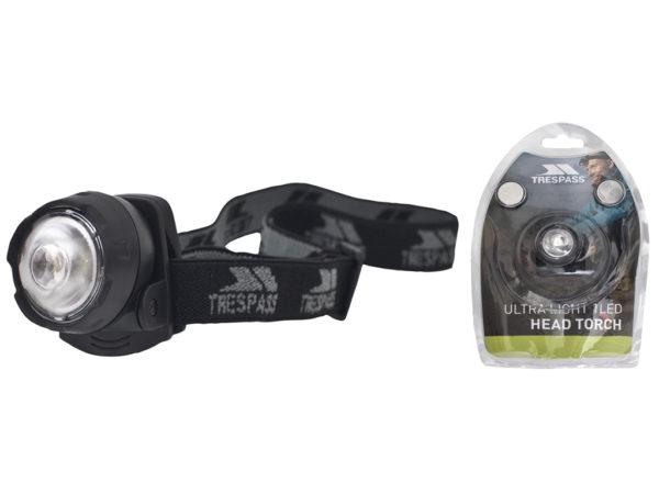 Trespass Flasher - Pandelampe - 1 diode - Sort - 22 gram