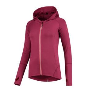 Rogelli Aura - Sports trøje hooded - Dame - Cerise/Coral - Str. M