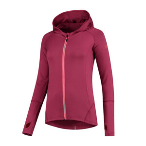 Rogelli Aura - Sports trøje hooded - Dame - Cerise/Coral - Str. S