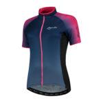 Rogelli Glow – Cykelbluse – Dame – Race Fit – Blå/Pink – Str. M