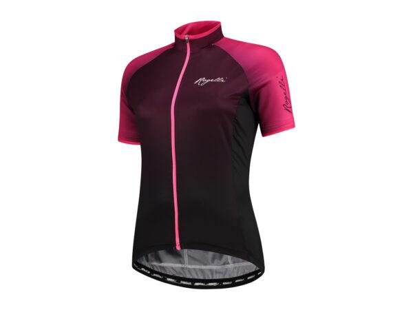 Rogelli Glow - Cykelbluse - Dame - Race Fit - Bordeaux/Pink - Str. XL