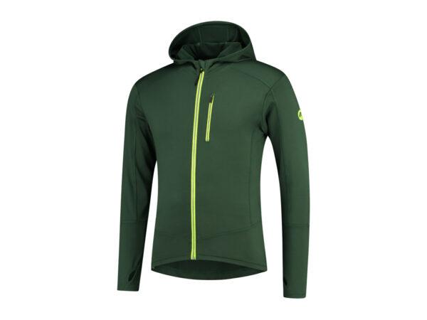 Rogelli Matrix - Sports trøje hooded - Grøn/Gul - Str. M