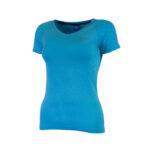 Rogelli Seamless - Sports t-shirt - Dame - Blå - Str. M