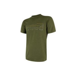 Sensor Merino Active Performance - Uld T-shirt med korte ærmer - Herre - Grøn - Str. XXL