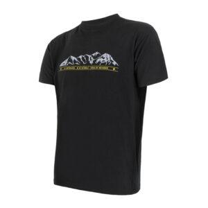 Sensor Merino Active Performance - Uld T-shirt med korte ærmer - Herre - Sort - Str. XXL