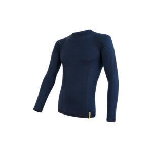 Sensor Merino DF - Merinoulds T-shirt m. lg. ærmer - Herre - Deep Blue - Str. XXL