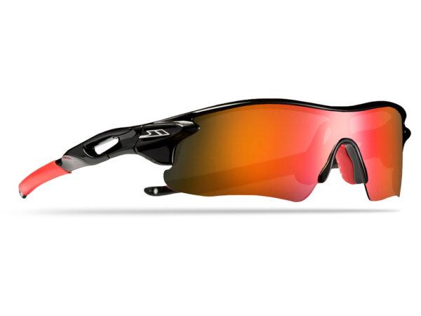 Trespass Slammed - Fritids- og cykelbrille - Sort/rød