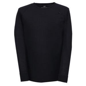 2117 OF SWEDEN Ullånger Eco - T-Shirt Merinould - Lange ærmer - Herre - Sort - Str. L