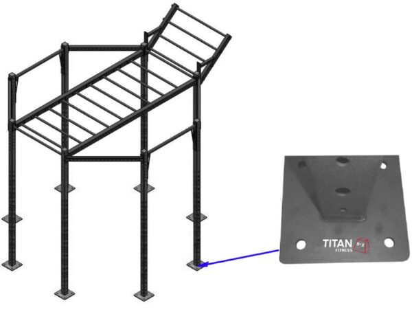 Titan BOX Crossfit Rig Octagon OUTDOOR Hard Surface