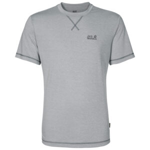 Jack Wolfskin Crosstrail T-Shirt - Hr. Str. XL - Silver Grey