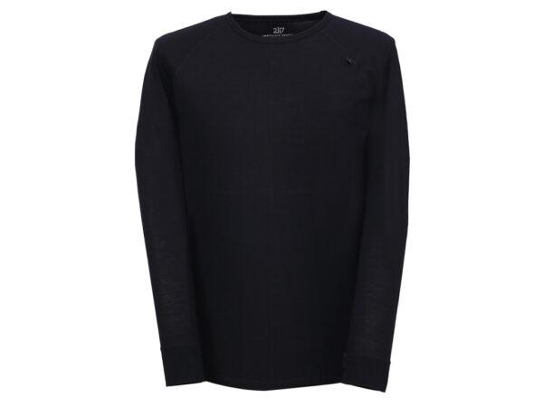 2117 OF SWEDEN Ullånger Eco - T-Shirt Merinould - Lange ærmer - Herre - Sort - Str. XXL
