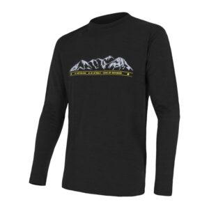 Sensor Merino Active Performance - Uld T-shirt med lange ærmer - Herre - Sort - Str. L