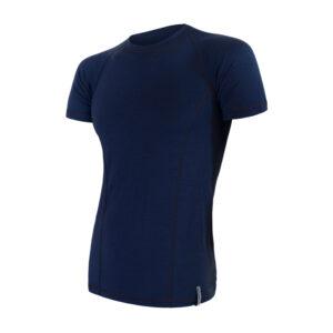 Sensor Merino Double Face - Merinoulds T-shirt med korte ærmer - Herre - Blå - Str. L