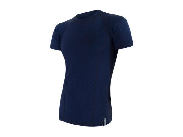 Sensor Merino Double Face - Merinoulds T-shirt med korte ærmer - Herre - Blå - Str. XL