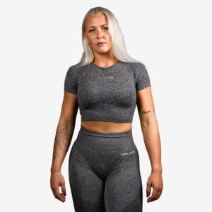 Relode Cropped T-Shirt Grey - M
