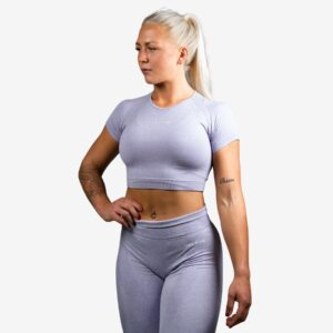 Relode Cropped T-Shirt Lilac - L