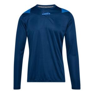Diadora X-Run LS T-Shirt - Lange Ærmer Herre - Blå - Str. XL