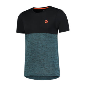 Rogelli Essence - Sports T-shirt - Blå/Sort/Orange - Str. 2XL