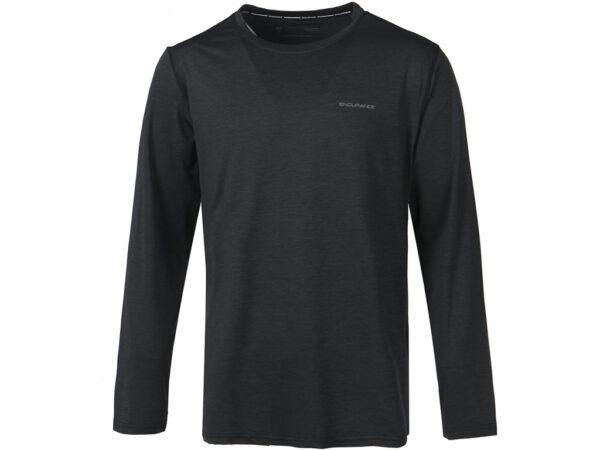 Endurance Mell Melange - T-shirt m. lange ærmer - Herre - Black - Str. 2XL