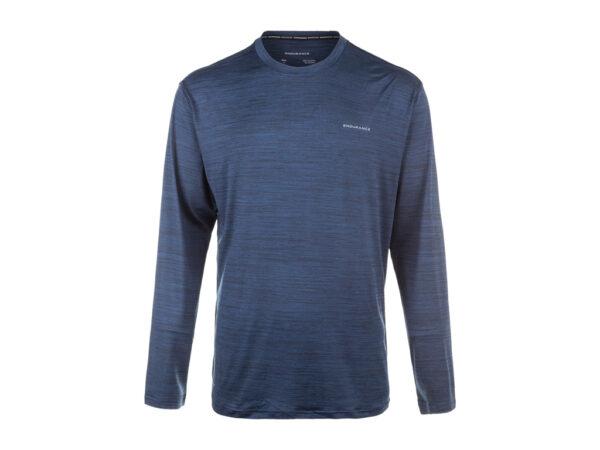 Endurance Mell Melange - T-shirt m. lange ærmer - Herre - Dark Sapphire - Str. 3XL