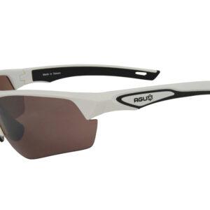 AGU Medina HD - Sports- og cykelbriller med 3 sæt linser - Hvid