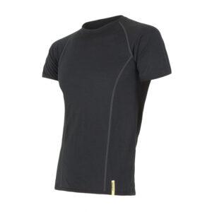 Sensor Merino Active - Uld T-shirt med korte ærmer - Herre - Sort - Str. XL